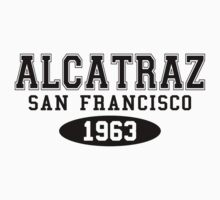 Alcatraz San Francisco 1963 Black by waywardtees