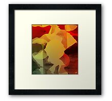 Black Paper Abstract Framed Print