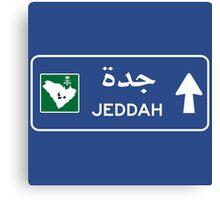 Jeddah Highway Sign, Saudi Arabia Canvas Print