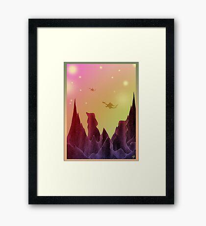 Star Dragons Framed Print