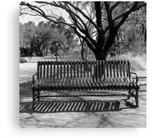 Agua Caliente Park Bench Canvas Print