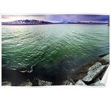 Utah Lake - Green Waters Poster