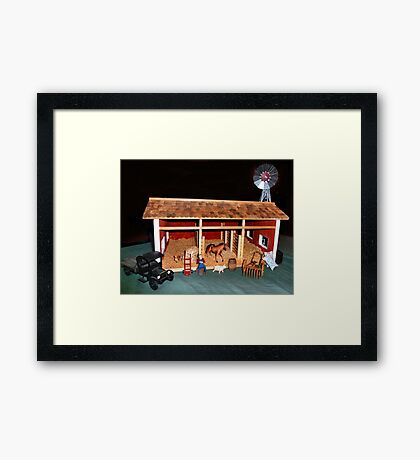 The Stable (A Miniature) Framed Print