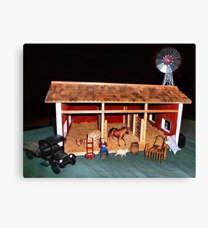 The Stable (A Miniature) Canvas Print