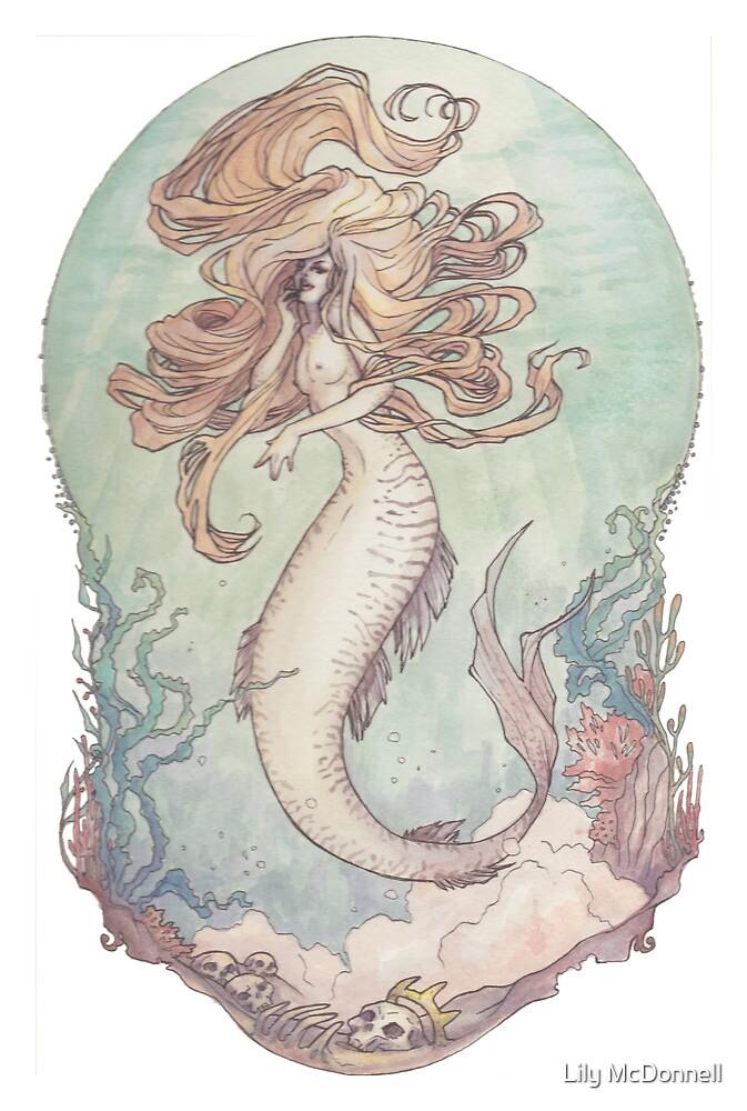 Art Nouveau Siren by Lily McDonnell