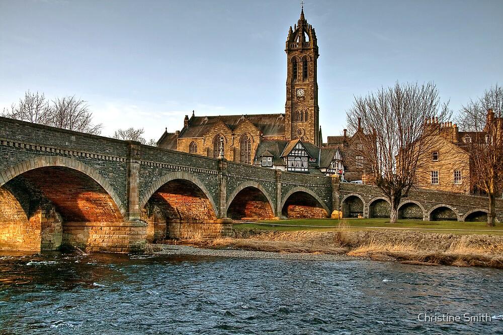 Light Under the Tweed Bridge by Christine Smith