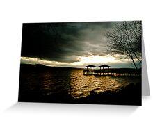 Fishing Pier at Lake Dardanelle Greeting Card