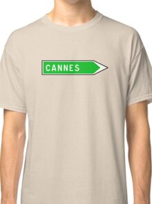 Cannes, Road Sign, France Classic T-Shirt