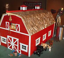 New Red Barn (A Miniature) by Nadya Johnson