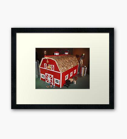 New Red Barn (A Miniature) Framed Print