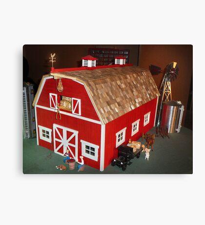 New Red Barn (A Miniature) Canvas Print