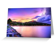 Sunset Strand Greeting Card