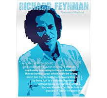 Richard P. Feynman, Theoretical Physicist (Blue) Poster