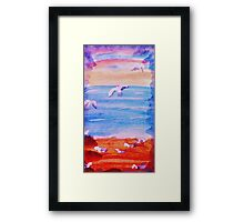 The Sea Gulls have taken over, watrcolor Framed Print
