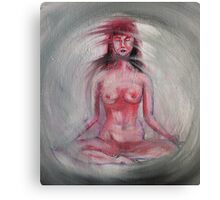 Nude Lotus Canvas Print