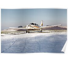 PA28 in the snow Poster