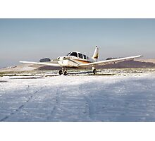 PA28 in the snow Photographic Print