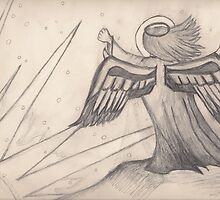 Angel, Sun, And Clouds by Laura Godden