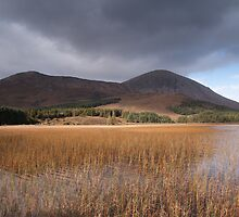 Loch Cill Chriosd -  Beinn Dearg Bheag & Beinn na Caillich by Christopher Cullen