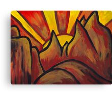 Mountain Sun  Canvas Print