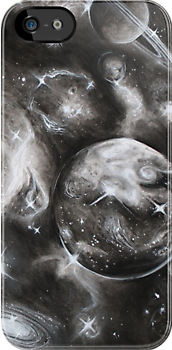 Galaxy in Charcoal. by Jacqui Frank