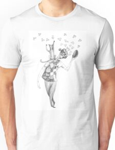 young clown with his cat Unisex T-Shirt