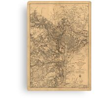 Military Map of N.E. Virginia Showing Forts and Roads (1865) Canvas Print
