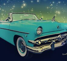 54 Ford Sunliner Date Night Saturday Night by ChasSinklier