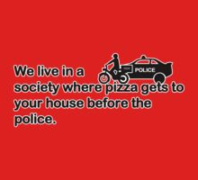 Pizza vs Police One Piece - Long Sleeve