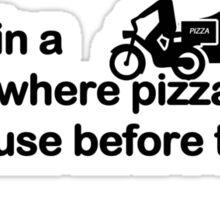 Pizza vs Police Sticker