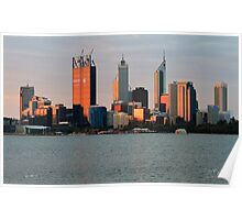 Perth, Western Australia at dusk Poster