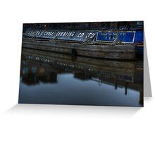 Barge, Gloucester Docks, Gloucester Greeting Card