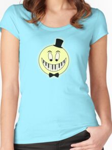 Vintage Pianst Smile Cartoon Women's Fitted Scoop T-Shirt