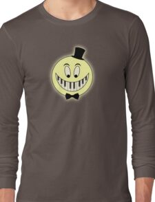 Vintage Pianst Smile Cartoon Long Sleeve T-Shirt