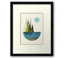 Earth, geometric print Framed Print