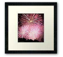 NYE Pink FIreworks Framed Print