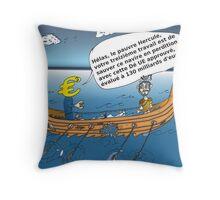 caricature options binaires - Le 13em Travaux d'Hercule Throw Pillow