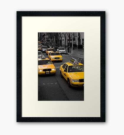 Taxi! New York City Framed Print
