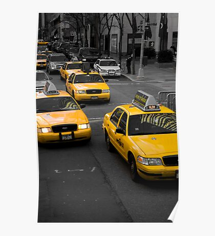 Taxi! New York City Poster