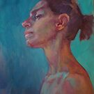 Profile of a dancer by Kathylowe