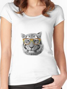 Tiger Glasses Women's Fitted Scoop T-Shirt