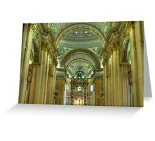 Notre Dame Cathedral Interior Greeting Card