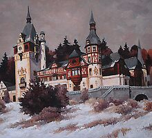 Peles Castle in Winter by vion