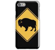 Buffalos Roaming, Traffic Warning Sign, Utah, USA iPhone Case/Skin