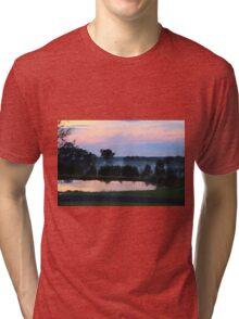 Misty Sunset Tri-blend T-Shirt