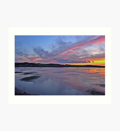 Sunset over Salthouse Marshes Art Print