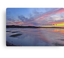 Sunset over Salthouse Marshes Metal Print