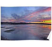 Sunset over Salthouse Marshes Poster