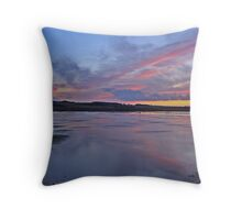 Sunset over Salthouse Marshes Throw Pillow