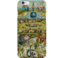The Garden of Earthly Delights by Hieronymus Bosch (1480-1505) iPhone Case/Skin